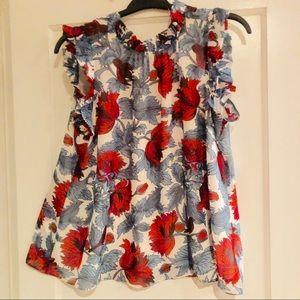 NWOT ruffle blouse Ann Taylor